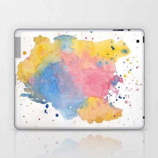 RAINBOW SPLATTER Laptop & iPad Skin