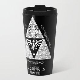 Legend of Zelda Kingdom of Hyrule Crest Letterpress Vector Art Travel Mug