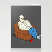 potato Stationery Cards featuring Couch Potato by pigboom el crapo