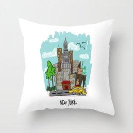 New York City, New York Throw Pillow