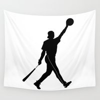 robert downey jr Wall Tapestries featuring #TheJumpmanSeries, Ken Griffey Jr. by @thepeteyrich