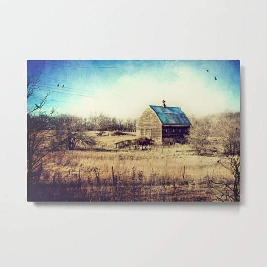 Interlude in Blue Metal Print