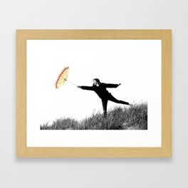 Blow me away Framed Art Print