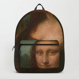 Mona Lisa Classic Leonardo Da Vinci Painting Backpack