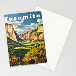 Yosemite National Park Travel Vintage Stationery Cards
