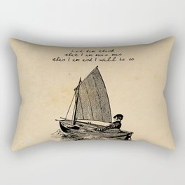 Ernest Hemingway - The Old Man and the Sea Rectangular Pillow