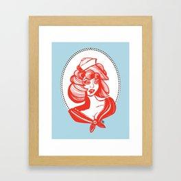 sailor girl Framed Art Print