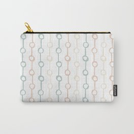 Polka Dot Stripe Pastel Pink Cream Green Carry-All Pouch