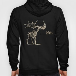 Vintage Elk Skeleton with Friends Hoody