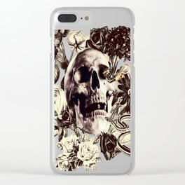 The Final Curtain (Sepia) Clear iPhone Case