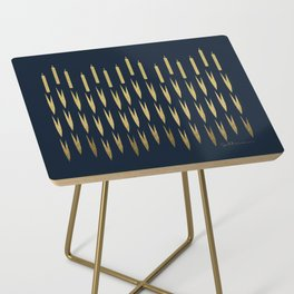 Navy Cattail Side Table