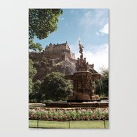edinburgh Canvas Prints featuring Edinburgh by Floriane Emelyne