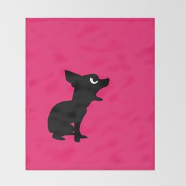 Angry Animals: Chihuahua Throw Blanket