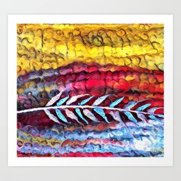 Impression Prairie Feather Art Print