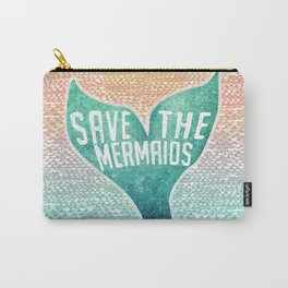Save the Mermaids - Ocean Sunset Colors Carry-All Pouch