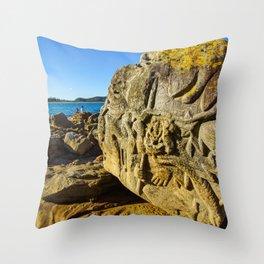 Rock Sculpture, Palm Beach, Sydney Throw Pillow