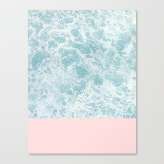 Pink on the Sea Canvas Print