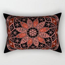 Autumn Fall Mandala Spirograph Art Pattern Design Rosette Rectangular Pillow
