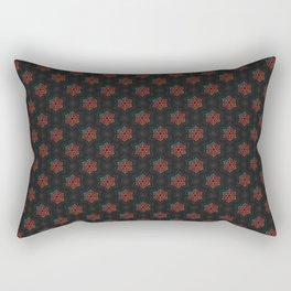 Festive Snowflake Pattern Rectangular Pillow