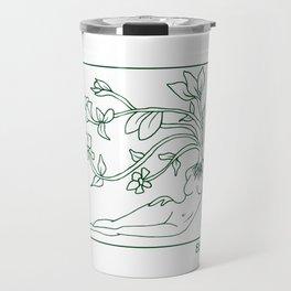 At Dawn We Grow, Green Travel Mug