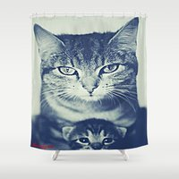 mom Shower Curtains featuring Mom by arnedayan