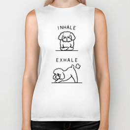 Inhale Exhale Toy Poodle Biker Tank