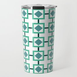 BOXED IN, TURQUOISE Travel Mug