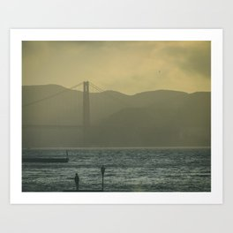 Golden Gate Bridge at Sunset  Travel photography California - golden hour USA Art Print