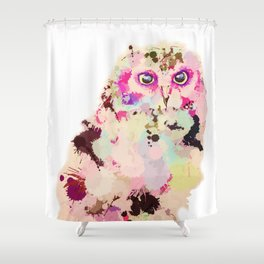 Owl of Many Colors Shower Curtain