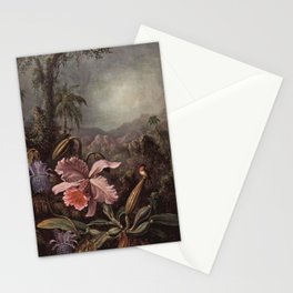 Martin Johnson Heade - Orchids, Passion Flowers and Colibris Stationery Cards