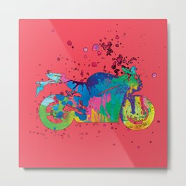 ap127-9 Motorcycle Metal Print