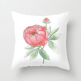 Peony from my Garden Throw Pillow