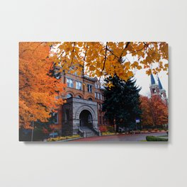 Amazing Fall Days on Campus--Gonzaga Metal Print