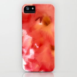 Soft Red Gladiola iPhone Case