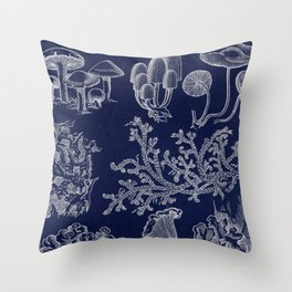 Fungus And Lichen Chart Throw Pillow