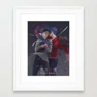 tokyo ghoul Framed Art Prints featuring TOKYO GHOUL by Kossoribl