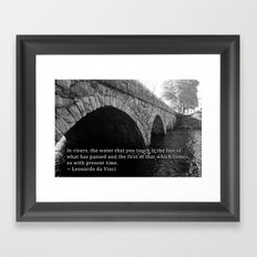 Pleasant Street Bridge - With Quote Framed Art Print