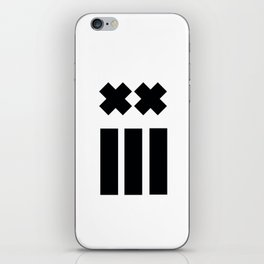 Ex and Stripes iPhone Skin