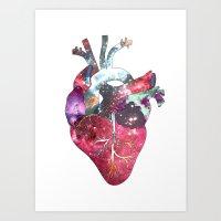 Superstar Heart (on white) Art Print