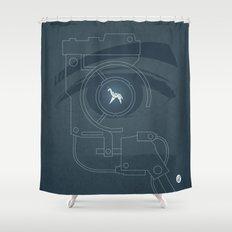 BLADE RUNNER (Voight Kampf Test Version) Shower Curtain