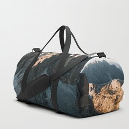 Tre Cime in the Dolomites Mountains at dusk - Landscape Photography Duffle Bag