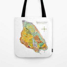 Mackinac Island Illustrated Map Tote Bag