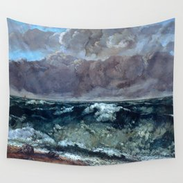 """Gustave Courbet """"The Wave 1969-1870 Berlin"""" Wall Tapestry"""
