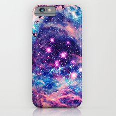 Trendy Pastel Pink Blue Nebula Girly Stars Galaxy iPhone 6 Slim Case