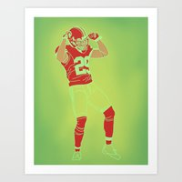 49ers Art Prints featuring 49er Chris Culliver Print by Courtney Charlton