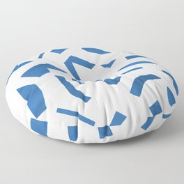 Cut Out - Blue Floor Pillow