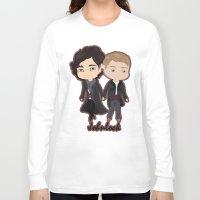 johnlock Long Sleeve T-shirts featuring Johnlock by Alex Mathews