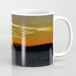 Sunset on the River. Coffee Mug