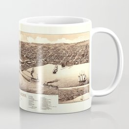 Map Of Duluth 1883 Coffee Mug