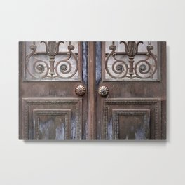 Mausoleum Doors Metal Print